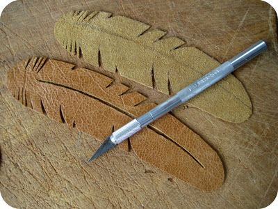 Yup, I knew I could find how to do these in 25 seconds!  leather feathers