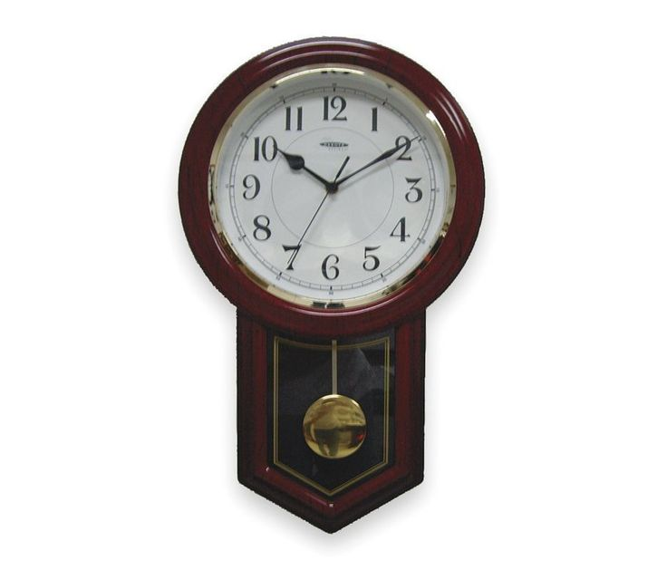 Dakota Designs Chiming Decorative Quartz Wall Clock With Pendulum