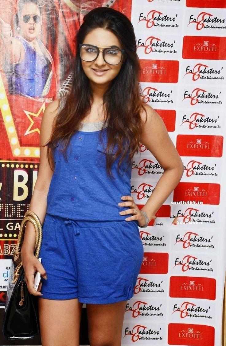 Neha Deshpande in Blue Dress at Gutthi Bharati Comedy Show Press Meet at Neha Deshpande News Stills in July 2015  #NehaDeshpande #TheBells