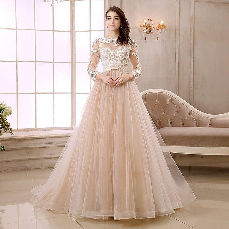 48 best Color Wedding Dresses images on Pinterest | Short wedding ...