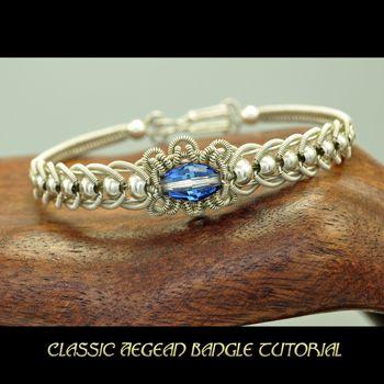 Soutache Jewelry Tutorial   Classic Aegean Bangle Tutorial available at Shaktipaj Designs