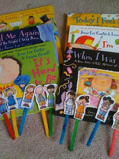 Books about children's emotions. All about me theme.