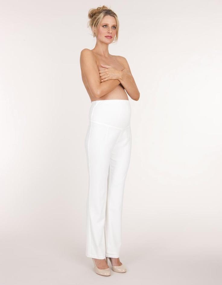 Pantalones rectos de marfil maternidad Leg | Seraphine Maternidad