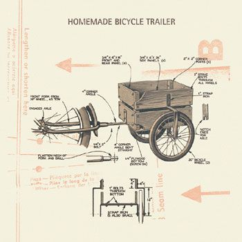 On pinterest teardrop trailer plans bike trailers and touring