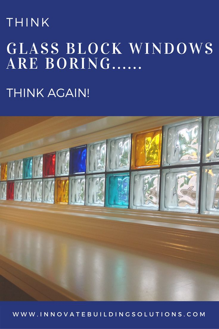 Best Glass Block Colored  Frosted Images On Pinterest - Basement block windows