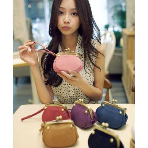 Solid Pink Hasp PU Fashion Bags $5.40