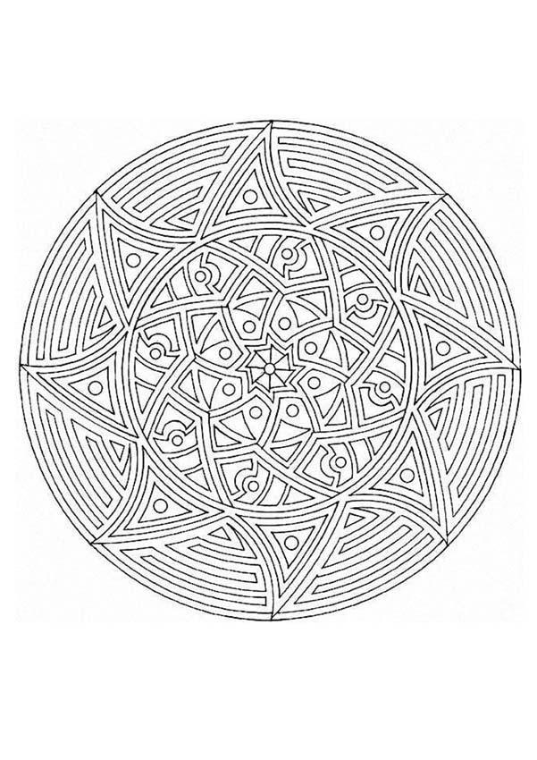Mandala  52 worksheet