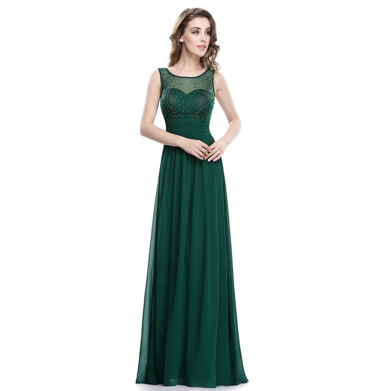Party Damen Abendkleid Grün