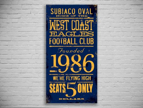 West Coast Eagles Turnstyle Canvas Print - The Turnstyle Print Company