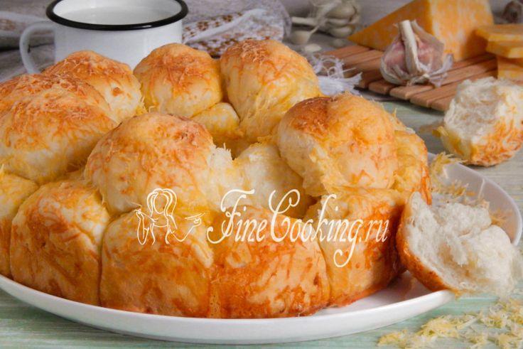 Обезьяний хлеб с сыром и чесноком