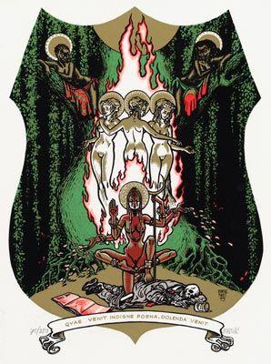 Peter Pontiac - Sacred Pin-ups - Werelddelen/All parts of the world - Griffioen Grafiek