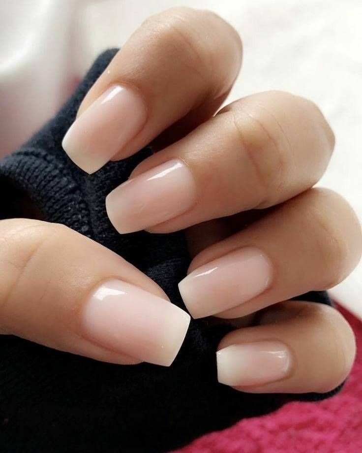 Neutral Nails Shiny Nails Polish Light Pink Nails Pink Nails