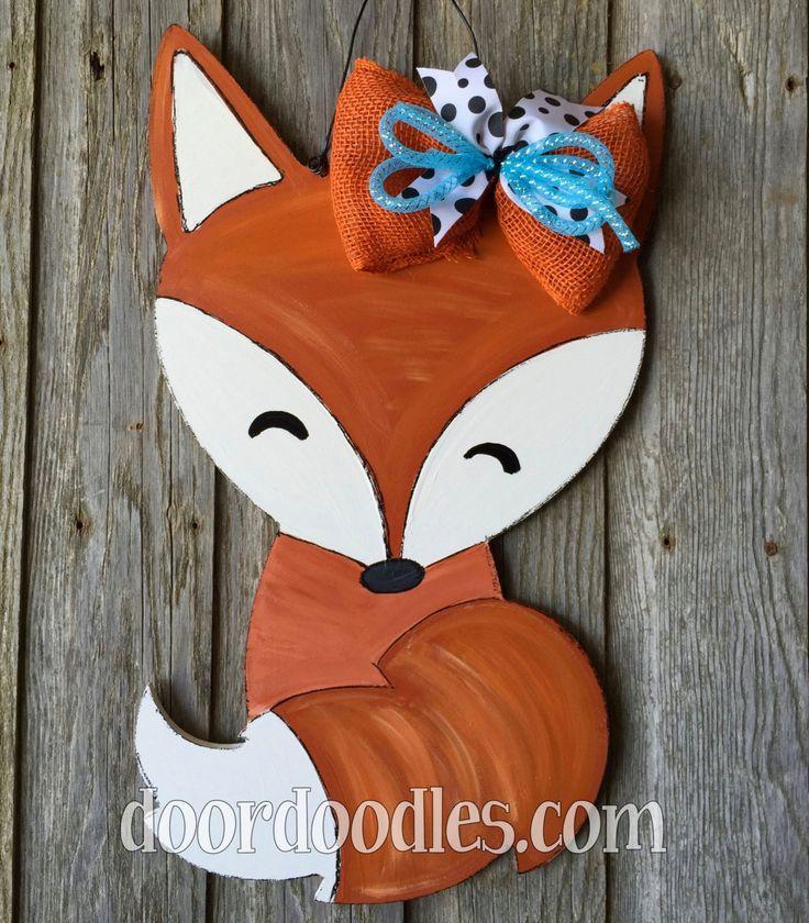 Fox Baby Door Hanger
