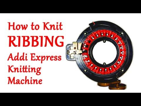 Learn to knit Ribbing on your Addi Express Knitting Machine! A little ribbing adds a nice touch to hats, mittens, socks, sweaters, and more. This technique w...