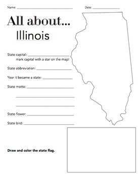 The Wright Ladies present the Illinois State Facts Worksheet! This is a great way for students to begin learning about their state or other states. Included in the download is a PDF version of the worksheet and an answer key.