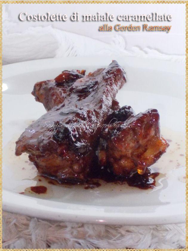 Costolette di maiale caramellate  alla Gordon Ramsay (Sticky Pork Ribs, Gordon Ramsay recipe)