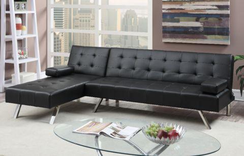 Moreton Adj Chaise Sofa Black