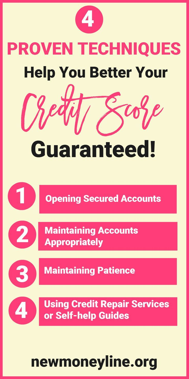 4 Proven Techniques Help You Better Your Credit Score Guaranteed Having An Excellent Credit Score Is Credit Repair Services Good Credit Improve Credit Score