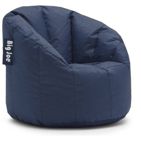 Big Joe Milano Bean Bag Chair, Multiple Colors wal mart best price $29, navy extra seating for the basement 1, 2 or 3 chairs