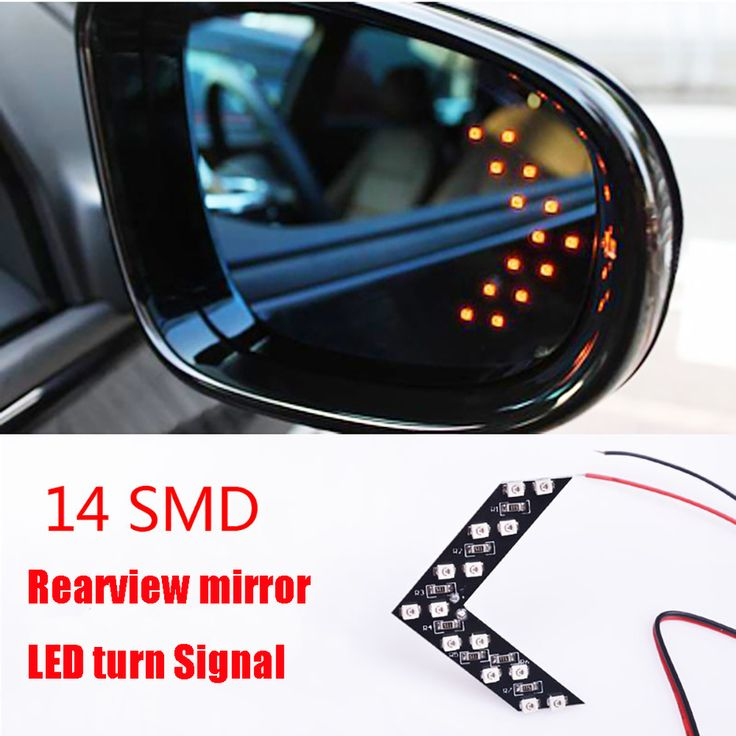2 Pcs/lot 14 SMD LED Arrow Panel For Car Rear View Mirror Indicator Turn Signal Lights Car LED Rearview Lamps EJ >>> See this great product.