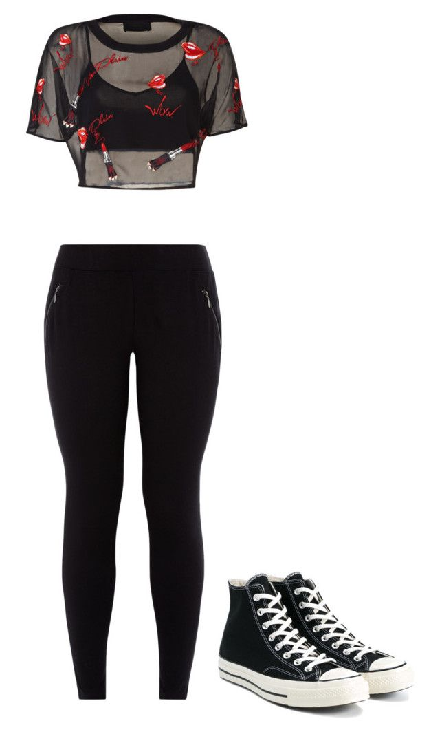 """""""Untitled #50"""" by thisismypaige ❤ liked on Polyvore featuring New Look and Converse"""
