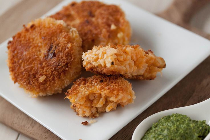 Risotto Cakes with Pesto from What's Gaby Cooking