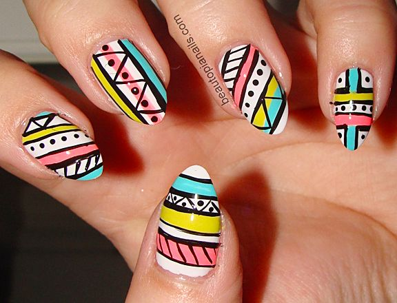 51 best pretty tribal nail design ideas images on pinterest coachella nail art tribal pictures photos images prinsesfo Image collections
