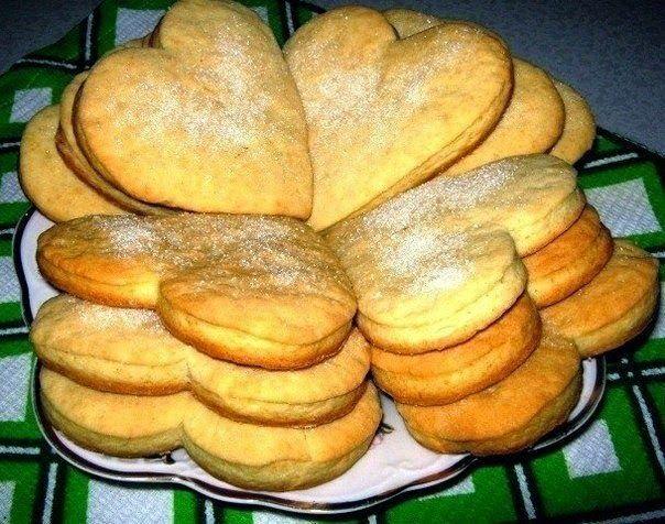 Самые вкусные сметанные коржики Сердечки