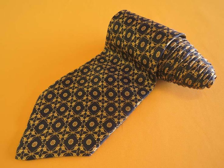 Richel Tie Pure Jacquard Silk Ethnic Floral Pattern Vintage Designer Dress Navy Blue Shirt Maker Necktie Made In Spain by InPersona on Etsy