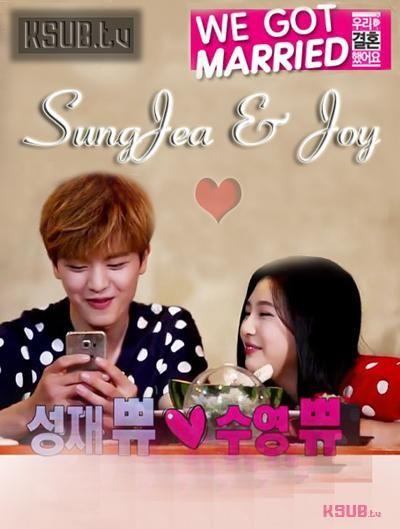 We Got Married (We Got Married Joy   Yook Sungjae) được sản xuất năm 2015. Với sự tham gia couple Joy   Yook Sungjae là show coi bộ hấp dẫn đây nè