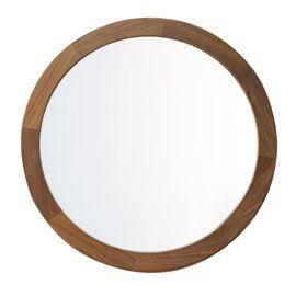 Heal's Walnut Round Mirror