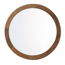Heal's Walnut Round Mirror