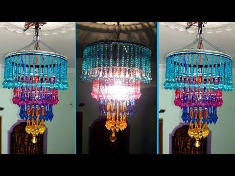 How To Make Jhumar/Chandelier | Wall Hanging Decoration | Beaded Chandelier | Home Decorating Ideas - YouTube