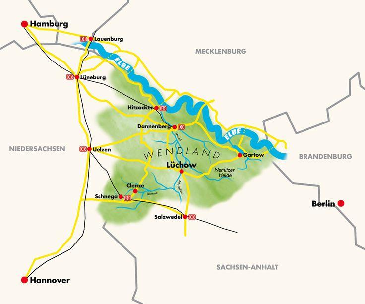 WENDLAND: Touristik/Tourismus in der Region Wendland (Lüchow, Dannenberg, Wustrow, Gartow, Clenze u.a.)