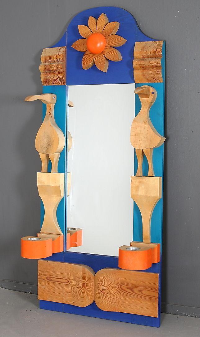 ERIK HÖGLUND. Spegel, Eriksmålaglas, 1960-tal. – Auctionet