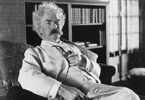 "Mark Twain: ""A public library is the most enduring of memorials, the trustiest monument for the preservation of an event or a name or an affection; for it, and it only, is respected by wars and revolutions, and survives them."""