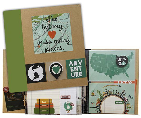 Simple Stories - SNAP Collection - SNAP Binder Class Kit - Travel at Scrapbook.com