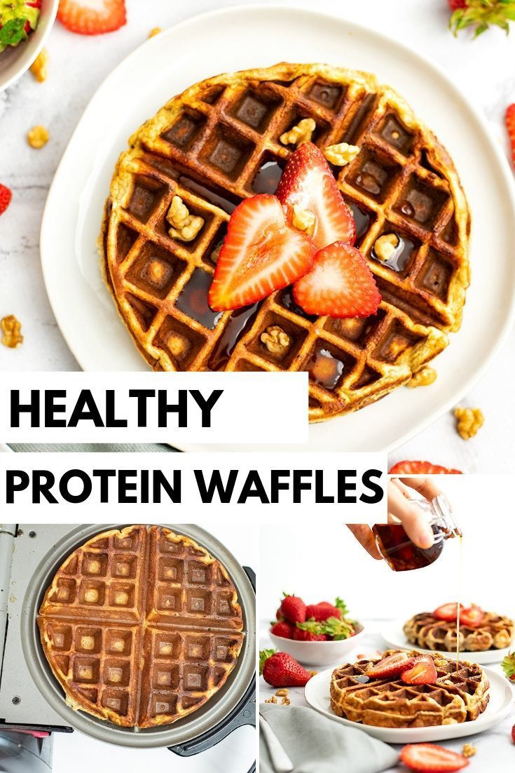 Protein waffles are the perfect healthy breakfast or brunch