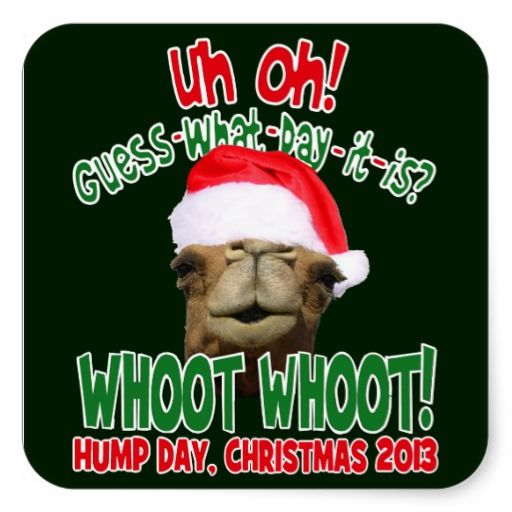 Hump Day Camel Christmas 2013 Stickers