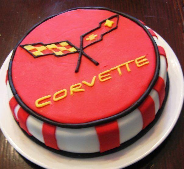 Corvette Birthday Cake cakepins.com