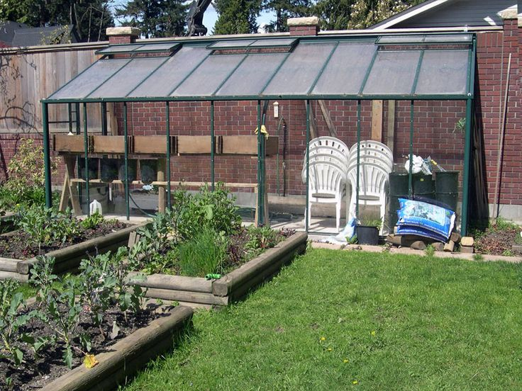 Traditional Glass Lean-to Greenhouse - Hobby Greenhouse Kits by Covering