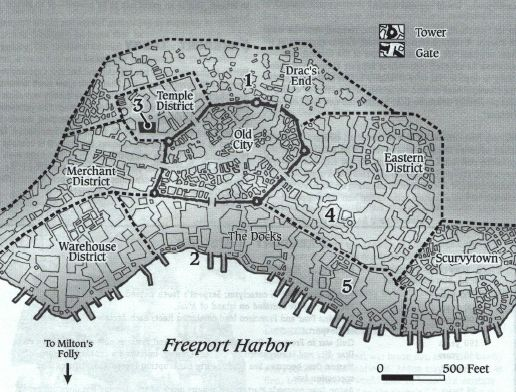 Geography of Freeport in Sea Barons, Dominion of the [City ...