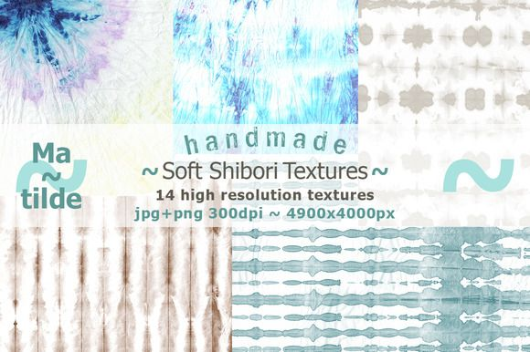 Soft shibori textures by Matilde on @creativemarket