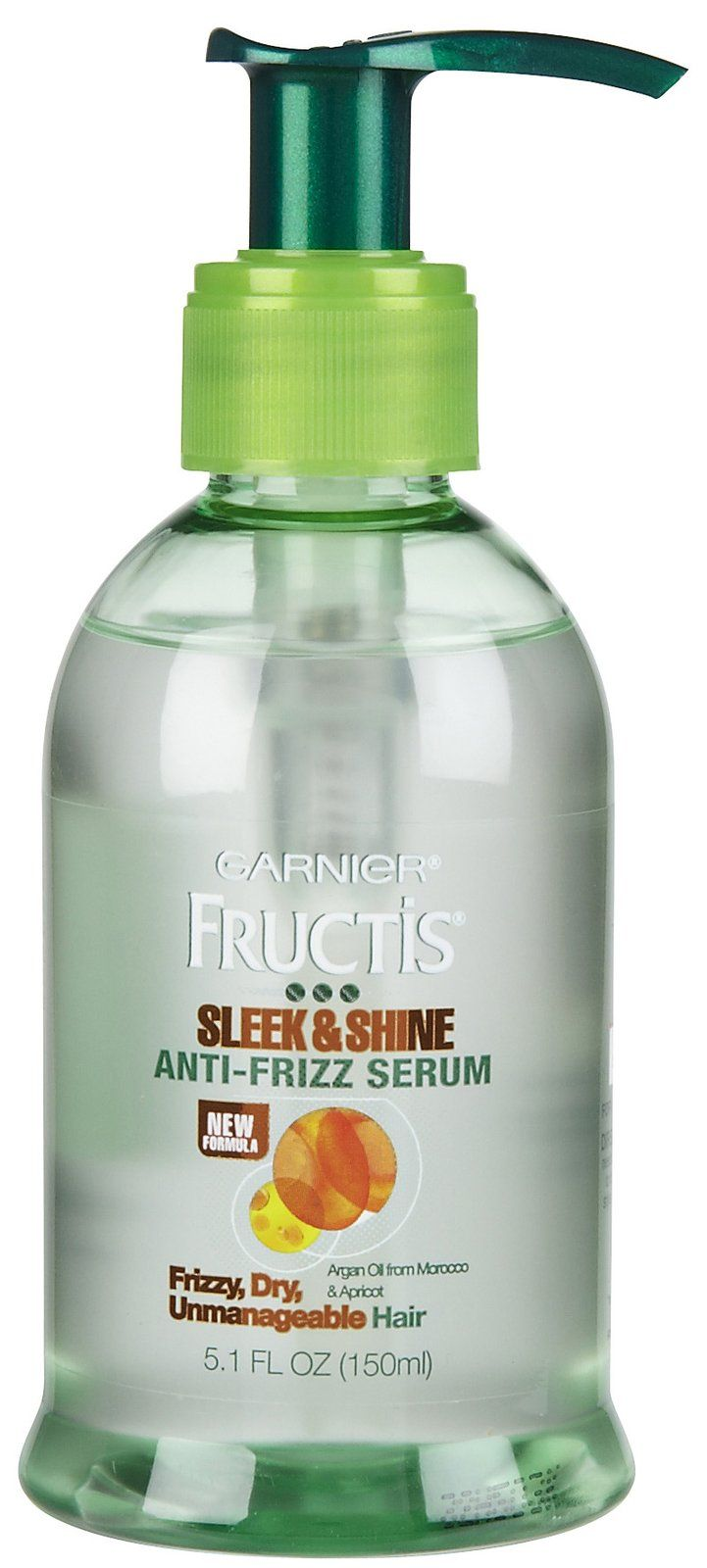 Garnier Fructis Sleek & Shine Anti-Frizz Serum - love this stuff!  Used expensive serums for so long and ran out last week so bought this on a whim. It's fabulous!  Controls frizz, smooths hair, softens & shines - and doesn't make it look or feel greasy at all!!!