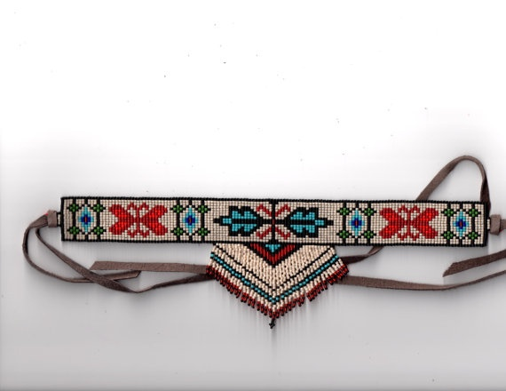 Beautiful hand beaded authentic Native by BlueZenythBeadwork, $115.00