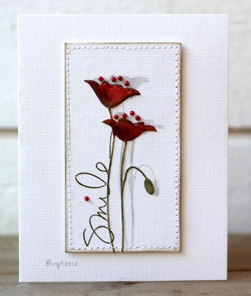 Rapport från ett skrivbord: Less is More W77: Prim Poppies, Cards Ideas, Cards Memories Boxes, Beautiful Ideas, Boxes Poppies, Birgit Cards, Boxes Cards, Diy Cards, The Boxes