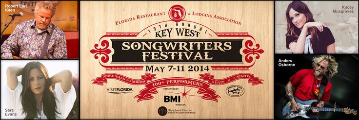 Key West Songwriter's festival. Plan now for one of the biggest events in Key West, Florida.