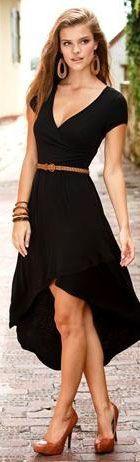 cocktail black dress <3