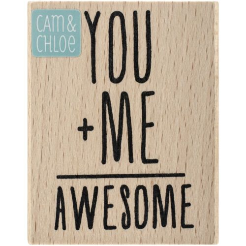 Cam-amp-Chloe-Mounted-Stamp-2-5-034-X2-034-You-Me-Awesome