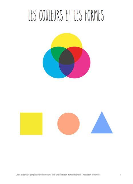 Dossier pédagogique Fichier d'activités les couleurs et les formes